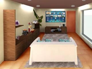Modern Living Room by Perfil Arquitectónico Modern
