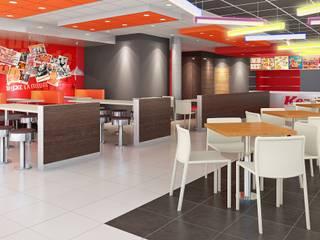 KFC TOMASAL Espacios comerciales de estilo moderno de ARKILINEA Moderno