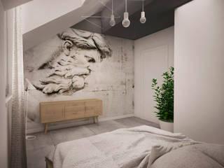 Sypialnia Industrialna kuchnia od Musiał Studio Industrialny Beton