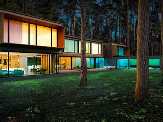 Дом в Подмосковье Дома в скандинавском стиле от ALEXANDER ZHIDKOV ARCHITECT Скандинавский