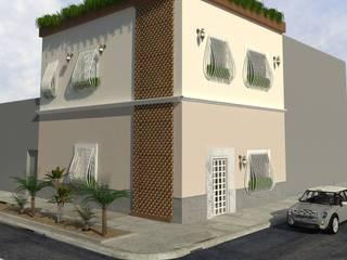 DESPÚES (FACHADA): Casas de estilo  por Kuro Design Studio