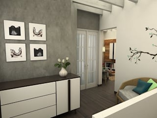 Kuro Design Studio Living room Grey