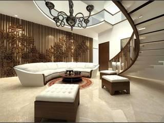 house interiors:  Corridor & hallway by Vinyaasa Architecture & Design