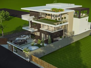 Private residence at Gwalior Modern houses by Vinyaasa Architecture & Design Modern