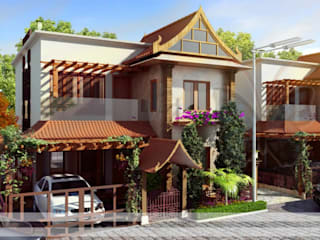 residential colony Asian style houses by Vinyaasa Architecture & Design Asian