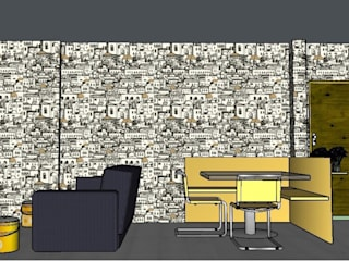 Livings de estilo  por Designer-in di Rosita Simeoli,