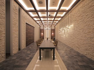 Macherie/ベルクラシック旭川 オリジナルな商業空間 の Shinobu Koizumi Design Office オリジナル