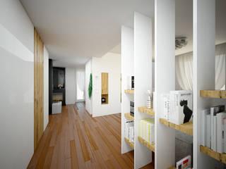 Pasillos, vestíbulos y escaleras de estilo  por QUADRASTUDIO