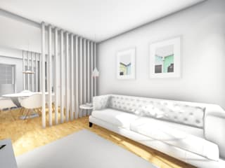 Apartamento na Rua Monsenhor Daniel Machado - Viana do Castelo Salas de estar modernas por Arq. Duarte Carvalho Moderno