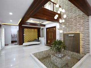 M B M architects Minimalistische gangen, hallen & trappenhuizen