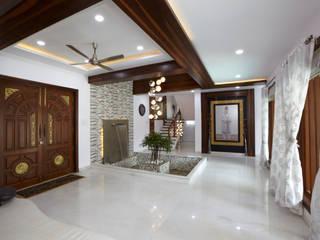 Dr Rafique Mawani's Residence M B M architects Minimalist corridor, hallway & stairs