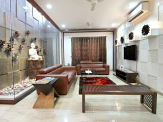 High-end Interior and Renovation Modern living room by Interior Shapes & Designs Modern