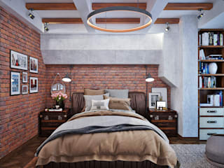 Industrial style bedroom by Студия дизайна Interior Design IDEAS Industrial
