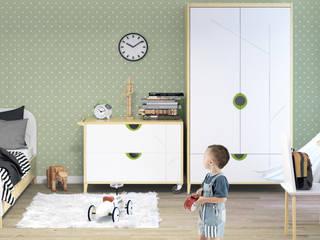 Kolekcja młodzieżowa Mikka Nowoczesny pokój dziecięcy od Made of Wood Group Nowoczesny