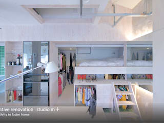 studio m+ by masato fujii Eclectic style bedroom