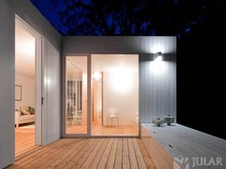 Treehouse Riga Varandas, marquises e terraços minimalistas por Jular Madeiras Minimalista Madeira Acabamento em madeira