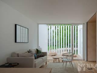 Treehouse Riga Salas de estar minimalistas por Jular Madeiras Minimalista Madeira Acabamento em madeira
