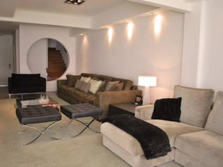 Projeto área social Salas de estar modernas por Jader e Ivan Arquitetos Moderno