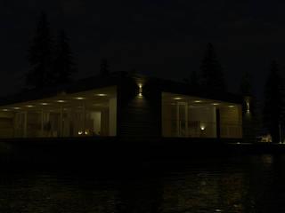 Minimalistyczne domy od D3c Arquitectos Minimalistyczny