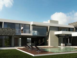 Residencia de lujo: Vestidores y closets de estilo  por D3c Arquitectos