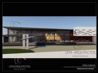 RESTAURANTE DE MARISCOS  Boca del Rio, Veracruz.: Casas de estilo  por Lima Arquitectos