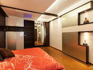 Flat @ Tirupur:  Bedroom by Cubism