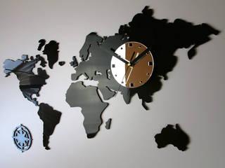 Zegar Mapa Świata: styl , w kategorii Ściany zaprojektowany przez ModernClock