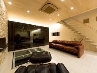 2階リビング: イデア建築デザイン事務所が手掛けたです。