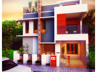 3 Bedroom - 1633 SFT Home- Elevation concept 1:   by eHomez