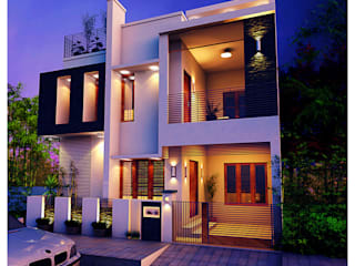 3 Bedroom - 1633 SFT Home- Elevation concept 2:   by eHomez