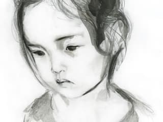 Drawing of a girl:   by Kellas Campbell