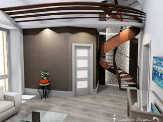Concept design di una piccola casa privata: Soggiorno in stile  di Giovanni Lorusso Geometra & Interior Designer
