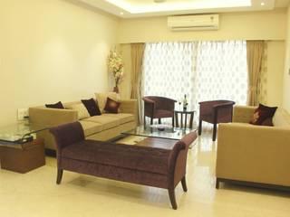 Vasant Vihar-Khar West:  Living room by Neha Changwani,Minimalist
