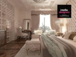 Projekt ultraluksusowego apartamentu w Krakowie: styl , w kategorii Sypialnia zaprojektowany przez Intellio designers