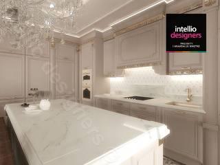 Intellio designers Cocinas de estilo clásico Beige