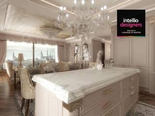 Wyspa w kuchni: styl , w kategorii Kuchnia zaprojektowany przez Intellio designers