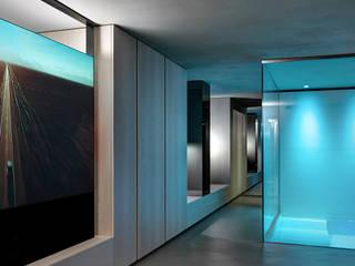 Casa Luna: Sala multimediale in stile  di Buratti Architetti