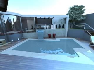 Hồ bơi theo Jacqueline Fumagalli Arquitetura & Design, Chiết trung