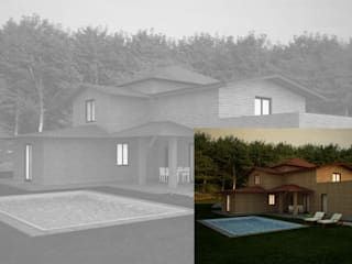 Visualizzazione 3D - esterno: Case in stile  di Silvana Barbato, StudioAtelier