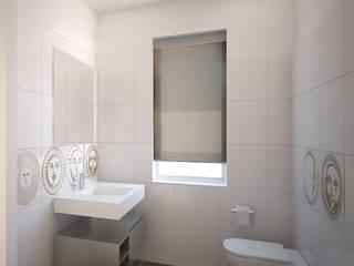Visualizzazione 3D - bagno ingresso: Bagno in stile  di Silvana Barbato, StudioAtelier