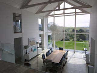 Replacement Dwelling in Trebetherick Cornwall by Arco2 Modern dining room by Arco2 Architecture Ltd Modern