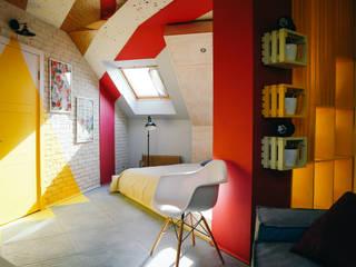 Акварельная спальня Спальня в эклектичном стиле от Студия Интерьерных Решений Десапт Эклектичный