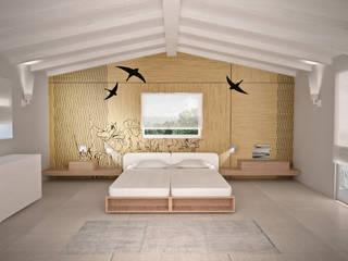 Visualizzazione 3D - camera da letto: Camera da letto in stile  di Silvana Barbato, StudioAtelier