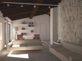 Via Dandolo Soggiorno moderno di Silvana Barbato Moderno