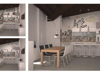 Cucina, parete decorata: Cucina in stile  di Silvana Barbato, StudioAtelier