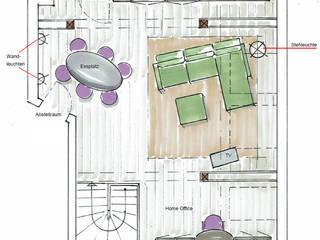 Wohnen unter der Dachschräge:   von more vision Innenarchitektur