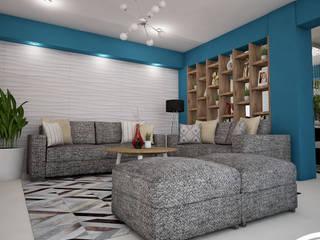 Diseño de Sala Comedor: Salas / recibidores de estilo  por Spacio5