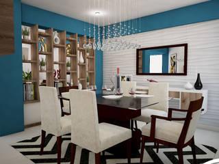 Diseño de Sala Comedor: Comedores de estilo  por Spacio5