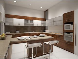 Kitchen Modern kitchen by Pixel Works Modern