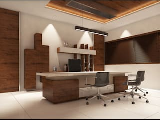 Office Modern study/office by Pixel Works Modern